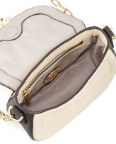 Tory Burch Sammy Colorblock Crossbody Bag, Cement Gray Multi