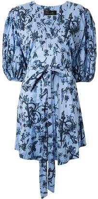 Romance Was Born Blue Belle smock dress