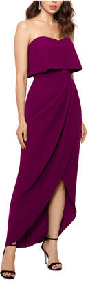 Xscape Evenings Strapless Tulip-Skirt Gown