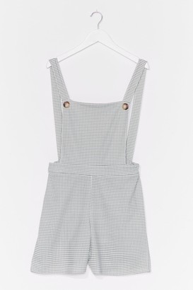 Nasty Gal Womens Gingham Love Relaxed Overall playsuit - Green - 6