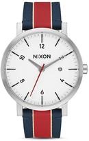 Nixon Rollo Leather Strap Watch, 42mm