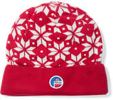 Fusalp - Snowflake Intarsia Knitted Beanie - Red