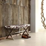 HomeSullivan Richardson Metal and Fabric Bench in Cowhide Print