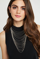 BCBGeneration Layered Chain Necklace - Silver