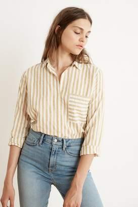 Velvet by Graham & Spencer Velvet By Graham Spencer Tammy Stripe Woven Long Sleeve Button-Up Shirt