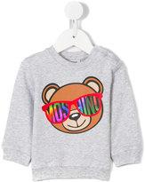 Moschino Kids - Teddy bear sweatshirt - kids - Cotton/Spandex/Elastane - 3-6 mth