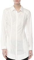 Donna Karan Pieced Fitted Boyfriend Shirt