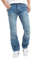 Crosshatch Mens Newport Jeans Light Wash