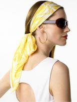 Cotton/silk paisley scarf
