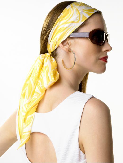 Banana Republic Cotton/silk paisley scarf