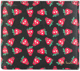 Paul Smith strawberry skull billfold wallet - men - Cotton/Leather - One Size