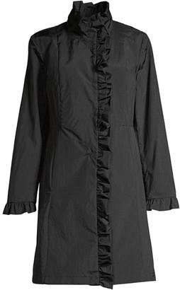 Jane Post Ruffle Trim Coat