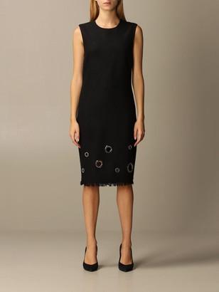 Boutique Moschino Sheath Dress With Maxi Eyelets