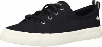 Sperry Crest Vibe Washed Linen Black 5 M (B)