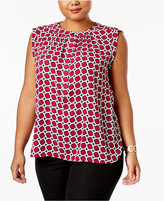 Nine West Plus Size Printed Blouse