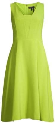 Donna Karan Stretch-Crepe Fit-&-Flare Dress