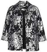 Caroline Rose Caroline Rose, Plus Size Women's A-Line Floral Jacket