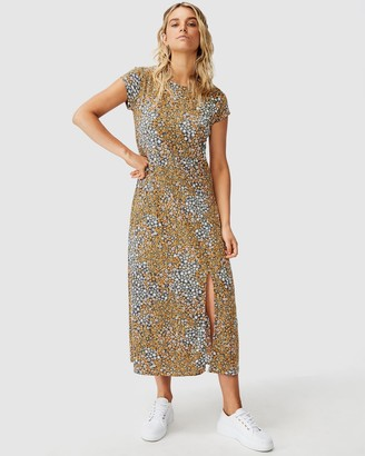 Cotton On Elsa SS Split Front Midi Dress