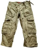 Tommy Hilfiger Khaki Cotton Trousers for Women