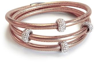 Liza Schwartz Triple Wrap Leather Cuff Bracelet