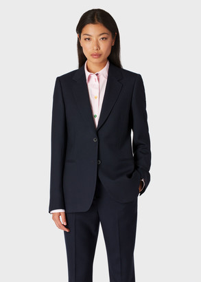 Paul Smith A Suit To Travel In - Women's Dark Navy Two-Button Wool Blazer