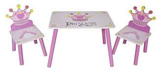 Kiddi Style Childrens Princess Themed Wooden Table and Chair SetPink