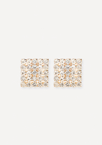 Bebe Crystal Square Earrings