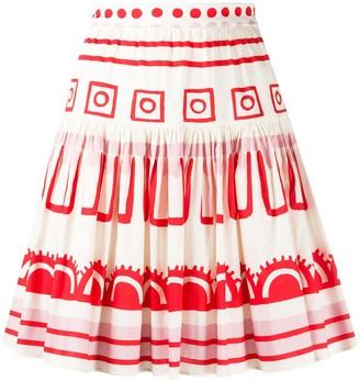 VIVETTA high-waisted A-line skirt