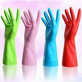 Set of 4 Pairs - ZICOME Reusable Waterproof Household Antibacterial Gloves for Kitchen Dish Washing Laundry Cleaning, Medium (4 Colors)