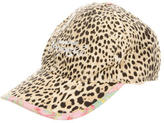 Roberto Cavalli Girls' Canvas Cheetah Print Hat