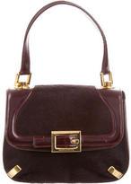Dolce & Gabbana Ponyhair & Leather Top Hande Bag
