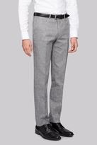 Moss Bros Slim Fit Grey Textured Pants