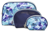 Set Of 3 Floral Cosmetic Bags
