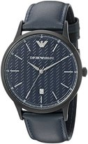 Emporio Armani Men's AR2479 Dress Analog Display Analog Quartz Blue Watch