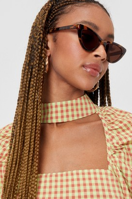 Nasty Gal Womens What's Up Pussycat Leopard Cat-Eye Sunglasses - Brown - One Size