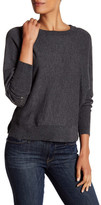Zadig & Voltaire Embellished Elbow Patch Wool Blend Sweater