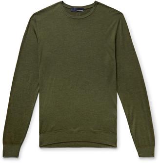 Lardini Wool, Silk And Cashmere-Blend Sweater