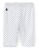 Ralph Lauren Batista Polka-Dot Pants, White/Blue, Size 9-24 Months