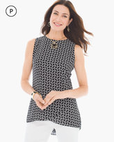 Chico's Whimsy Squares Jade Top