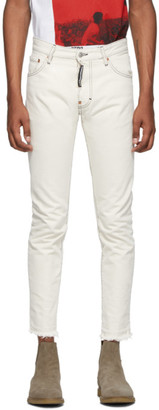 DSQUARED2 Off-White Sexy Mercury Jeans