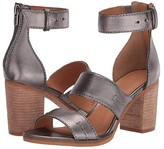 Frye And Co. AND CO. Bryn Stitch Sandal (Gunmetal Metallic Full Grain) High Heels