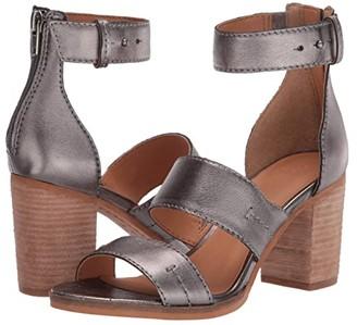 Frye AND CO. Bryn Stitch Sandal (Gunmetal Metallic Full Grain) High Heels