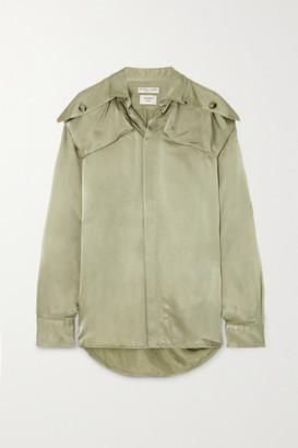 Bottega Veneta Satin-twill Shirt - Green