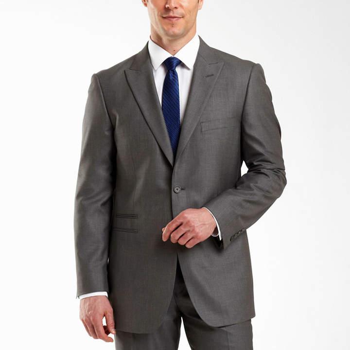 Jf J.Ferrar JF 2-Button Gray Sharkskin Suit Jacket-Big & Tall