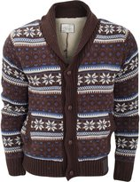 Brave Soul Mens Fairisle Fleece Lined Cardigan