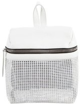 Kara Small Perforated Leather Backpack