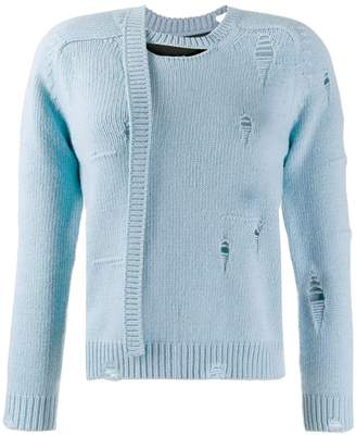 Marc Jacobs Worn Torn knitted sweater
