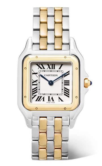 Cartier Panthère De 27mm Medium 18-karat Gold And Stainless Steel Watch