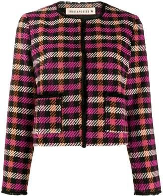 Shirtaporter Cropped Tweed Jacket