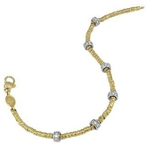 Torrini Rondelle Moving Mini - 18K Gold and Diamond Chain Bracelet